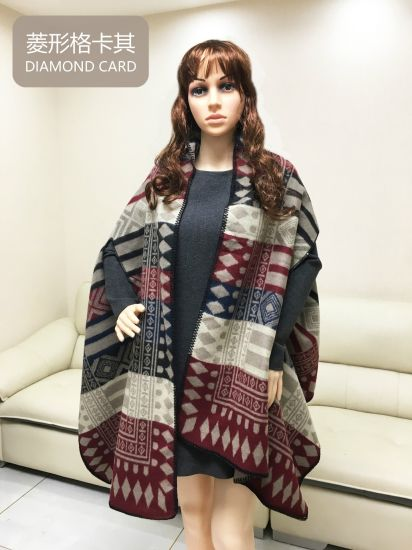 Fall and Winter Cashmere Cloak Dual-Purpose Scarf Shawl