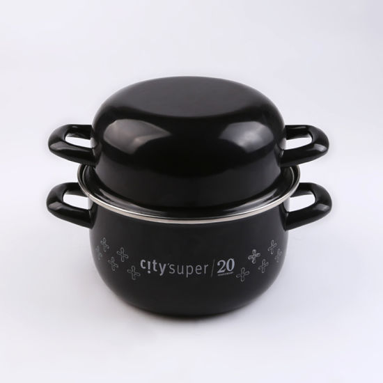 Enamel Mussel Pot Cookware with a Handle for Europe Daily Necessities pictures & photos