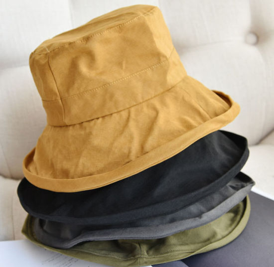 Japanese Solid Color Small Brim Women Fisherman's Hat