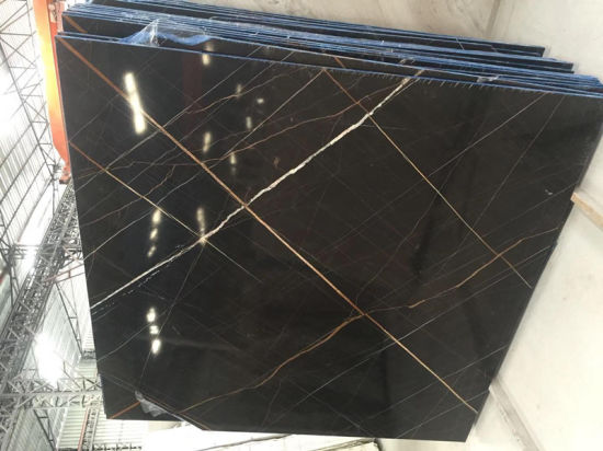 China Saint Lau Gold Black Marble