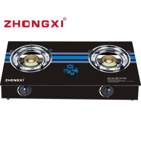 Kenya Market Honeycomb Glass Model 2 Burner Gas Stove (JZ-QT01)