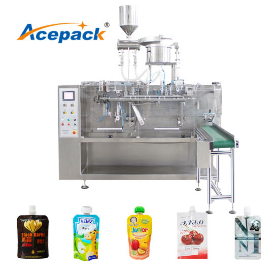 Premade Bag Cosmestic Cream Packing Machine for Bag with Spout
