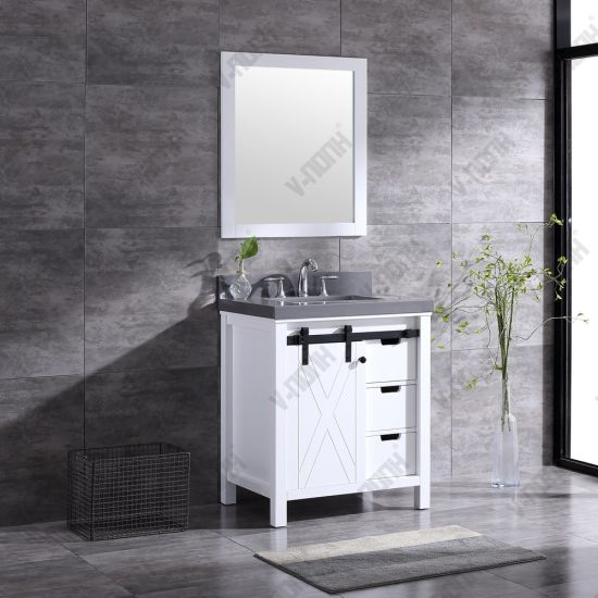 China 30inch White Bathroom Vanity With