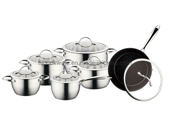 12PCS Stainless Steel Conical Shape Cookware Set