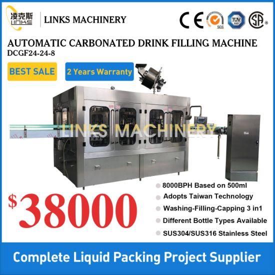 Automatic Soft Drink Soda Water Beverage Bottled Filling Machine Plant Line