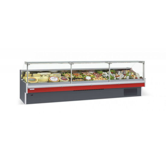 Color Customized Fresh Meat Display Chiller Deli Freezer