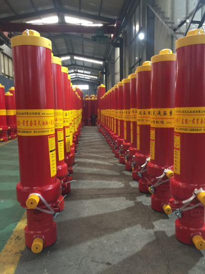 50t 4 Stages Hydraulic Cylinder for Dump Truck