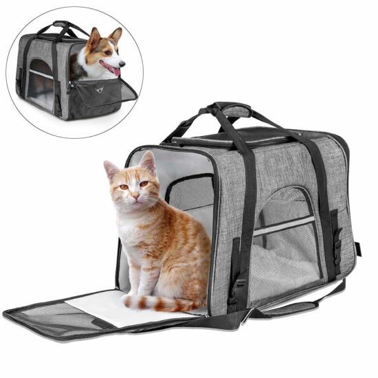 Pet Carrier Bag, Large Dog Cat Travel Carrier Bags Kennel Crate for Adult/Baby Cats