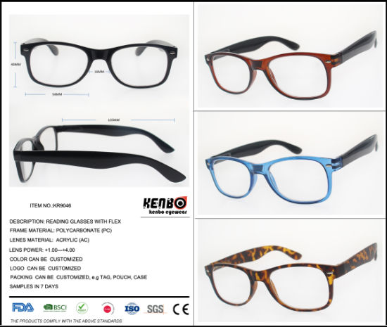 2019 New Fashion Reading Glasses with Magnifying Lens, Kr9046