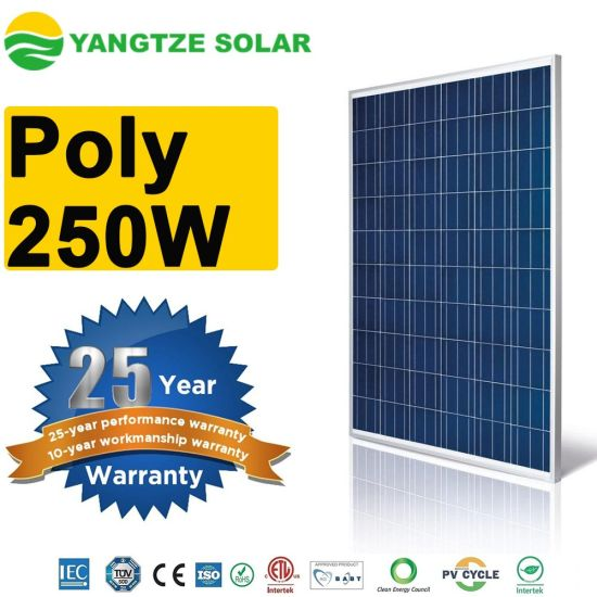 China Free Shipping Solar Energy Panel 250w Poly Stan