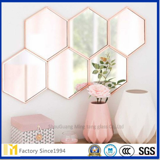 3mm 4mm 5mm 6mm Corner Bathroom Mirror Sheet with Bevel Edges