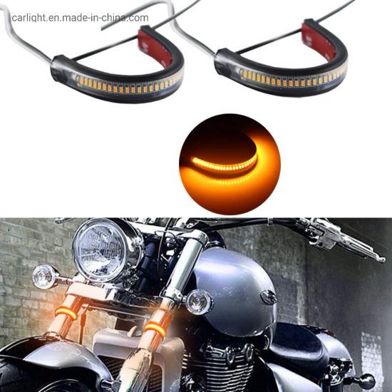 Motorcycle Fork Light Led Turn Signal Strip Lights For Motorcycle Turning Indicator Lights Universal Motorbike Lamps