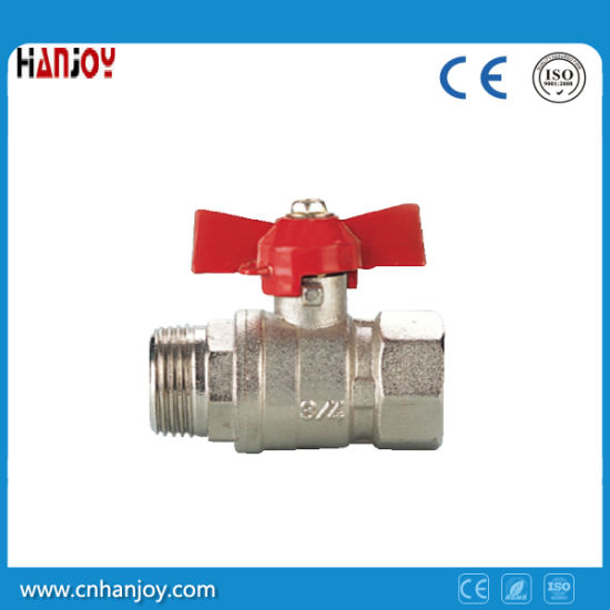 Brass Ball Valve with Aluminum butterfly handle (NV-2014 ALU M*F) pictures & photos