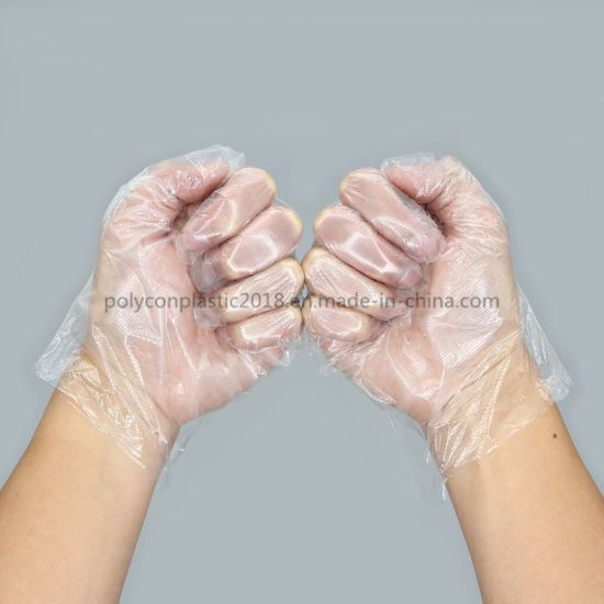 PE Disposable Biodegradable Plastic Food Glove