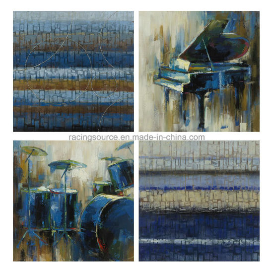 Modern Framed Abstract Hand Oil Canvas Painting pictures & photos