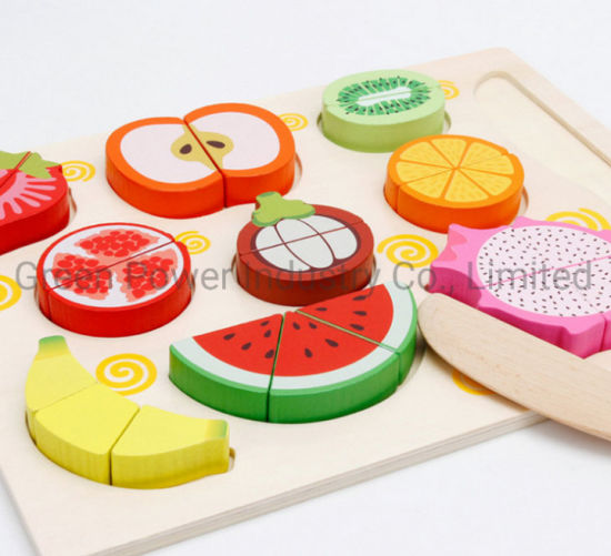 Wooden Toy Play House Cutting Fruit Toys for Kids pictures & photos