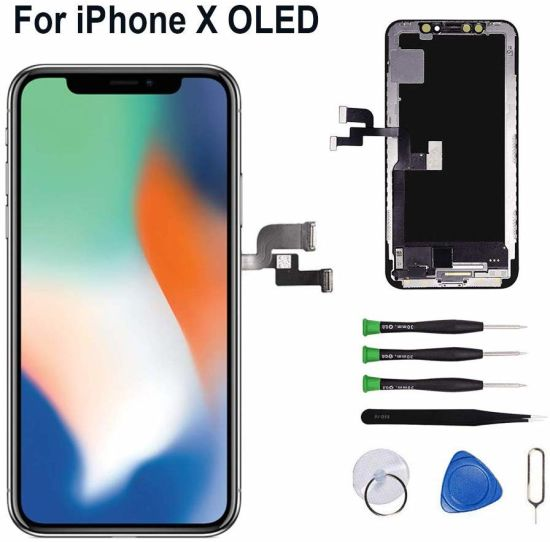 for iPhone X LCD Screen Replacement Mobile Phone LCD OLED 5.8 Inch, Touch Screen LCD Display Digitizer
