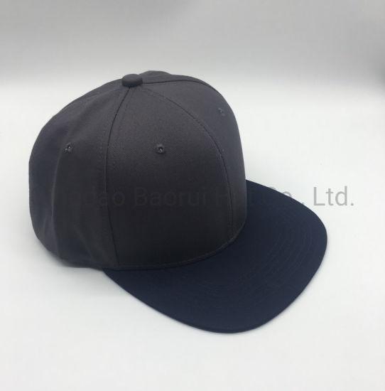 Fashion 100% Cotton Snapback Blank Sport Caps with Flat Visor