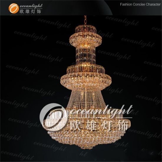 Golden Traditional Crystal Chandelier Big Classic Light Applied in Wedding or Hotel Ow562 pictures & photos