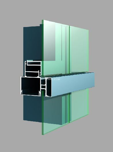 Powder Coating Aluminum Profile for Curtain Wall pictures & photos