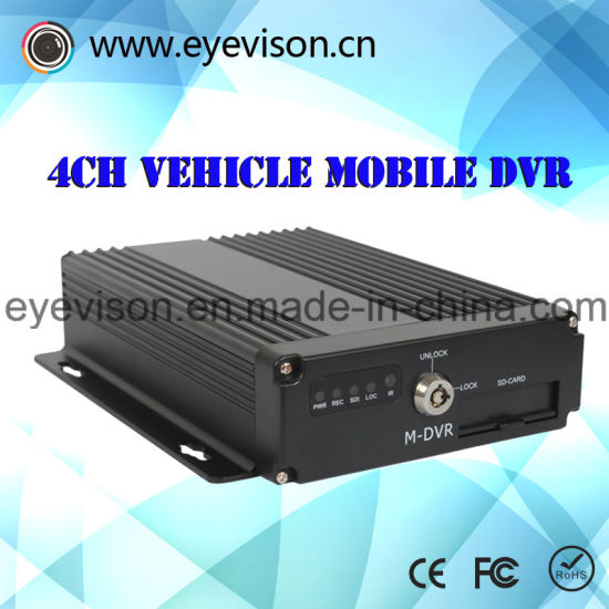 3G GPS / 4-Channel Real-Time H. 264 Support DVR SD Portable Car Audio Channel Number 1d1 CIF Real-Time Recording and Maximum 128g 1000 GB Hard Drive pictures & photos