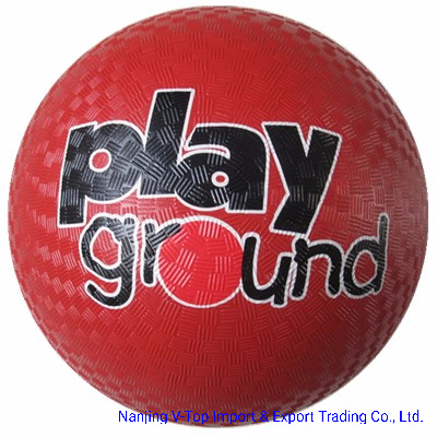 Colorful 8.5 Inch Rubber Playground Balls
