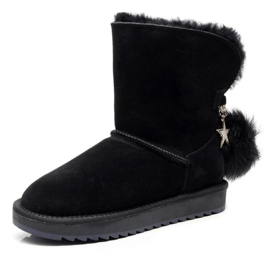 Mens Winter Snow Ankle Boots Casual Sports Shoes Sneakers Leather Fur Lined Warm