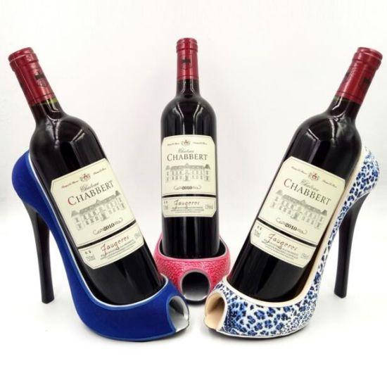 New Style Resin High Heel Shoe Shaped Wine Bottle Holder
