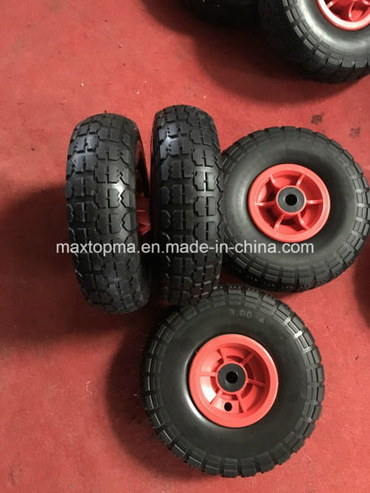 Hand Trolley Truck Rubber PU Foam Flat Free Wheel for Wheelbarrow pictures & photos