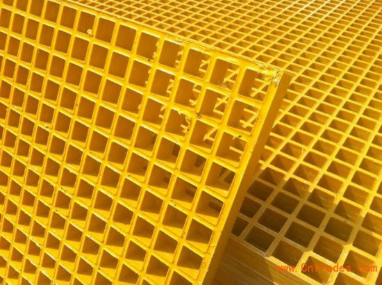 Isopthalic Polyester Fire-Retardant Resin (ISOFR) Fiberglass Grating pictures & photos