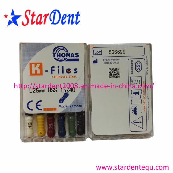 Dental Equipment Dentsply Maillefer K-File Instrument of Hospital Medical Lab Surgical Diagnostic Equipment pictures & photos