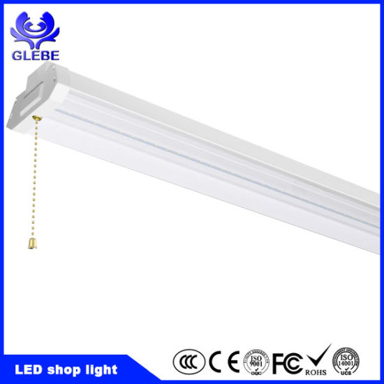 linkable utility design inside tube electric foot chain feit ft pull lumens fixture lighting light shop led in lights