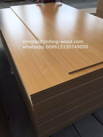 SGS 4*8 Furniture Grade Wood Grain Color/Solid Color Melamine MDF/HDF