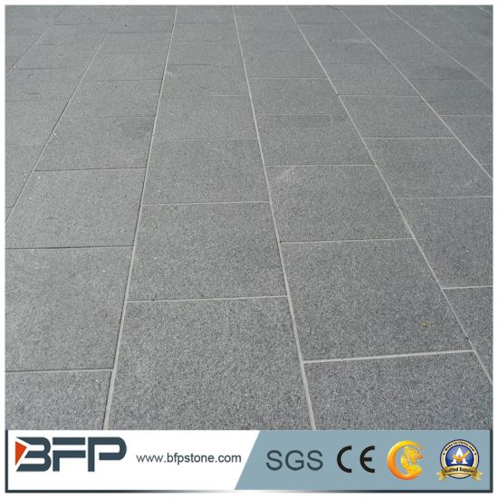 Dark Grey Granite Tumbled Paving Stone For Driveways