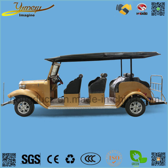 Theme Park Vehicle 8 Seats Electric Vintage Car for Sale