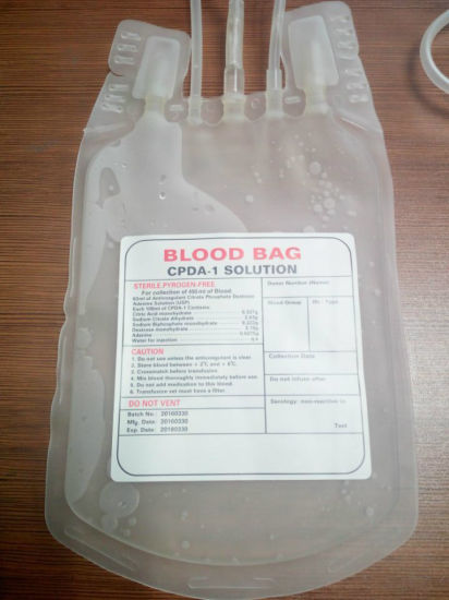 Medical Disposable PVC Blood Bag pictures & photos