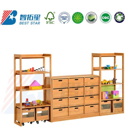 Combination Rack for Kinderargen and Preschool, School Furniture Children Display Rack, Playroom Furniture Toy Storage Rack, Daycare Furniture Kid's Rack.
