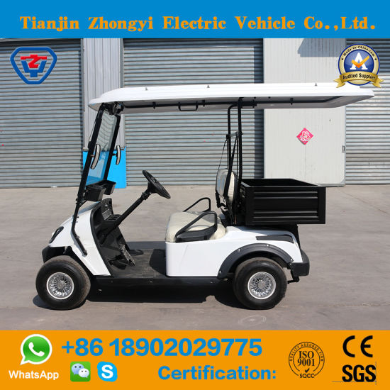 China Zhongyi New Design 2 Seats Mini Golf Cart With Bucket For