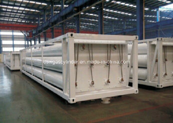 Cylinder Container, 8 Tubes Skid CNG Trailer CNG Tank