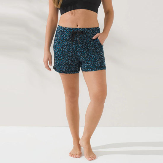 2021 Knit Animal Printed Summer Leisure Home Casual Short Jogger Pants for Women