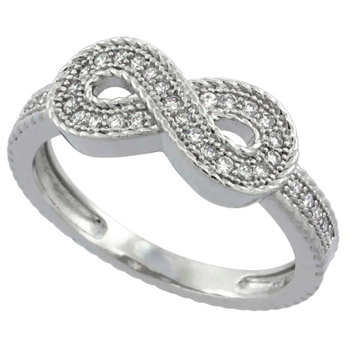 Infinity 925 Silver Rings with Cable Design pictures & photos
