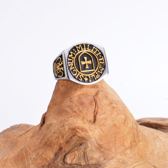 China Masonic Ring Mens Freemason Symbol G Templar