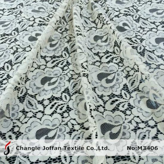 Cotton Fabric Ivory Bridal Lace Wholesale (M3406-G)