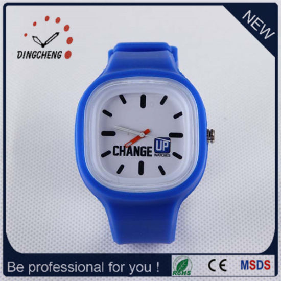 2015 Blue Charm Silicone Jelly Lady Wrist Watch (DC-960) pictures & photos