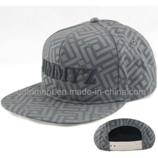 ee29fe0563a62 Leisure Flat Bill Print Embroidery Snapback Hat Cap (TMFL6393) pictures    photos