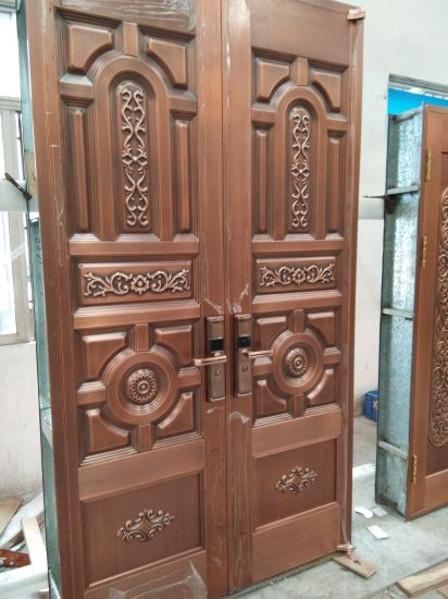 Gentil Foshan Door Manufacturer Top Quality Handmade Copper Door For House Entrance