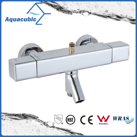 Square Bar Mixer Shower Set Thermostatic Valve with Spout for Bathtub (AF4365-7)