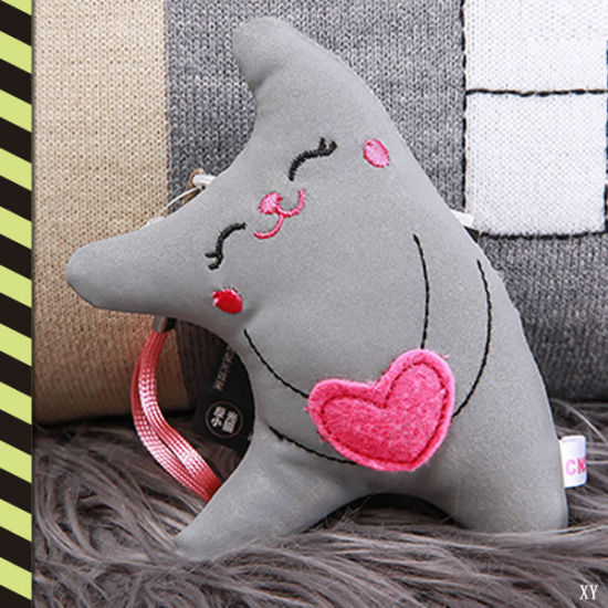 China Reflective Plush Cat Toys With Ce En13356 Reflective Doll For