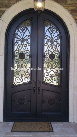 China Wholesale Wrought Iron Door for Villa Custom Design - China ...