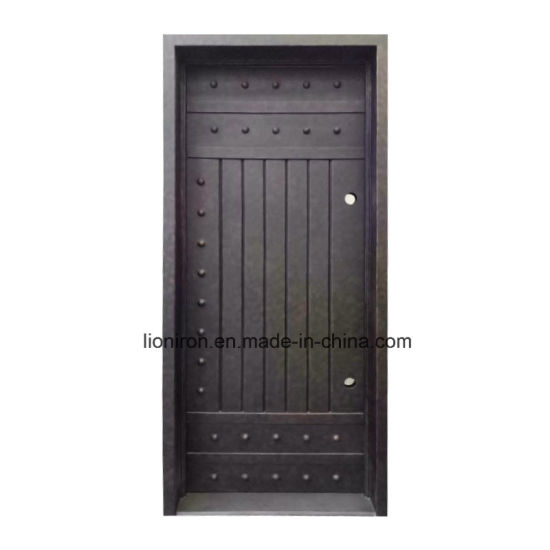 China Wholesales Interior Wrought Iron America Cellar Entry Door